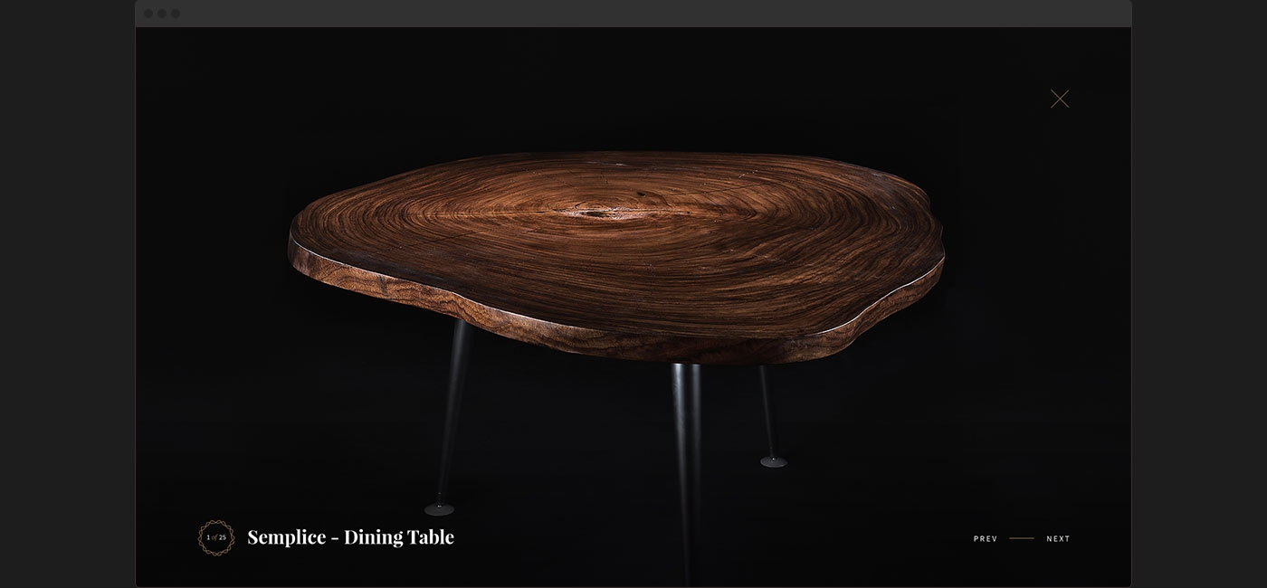 Gallery modal design