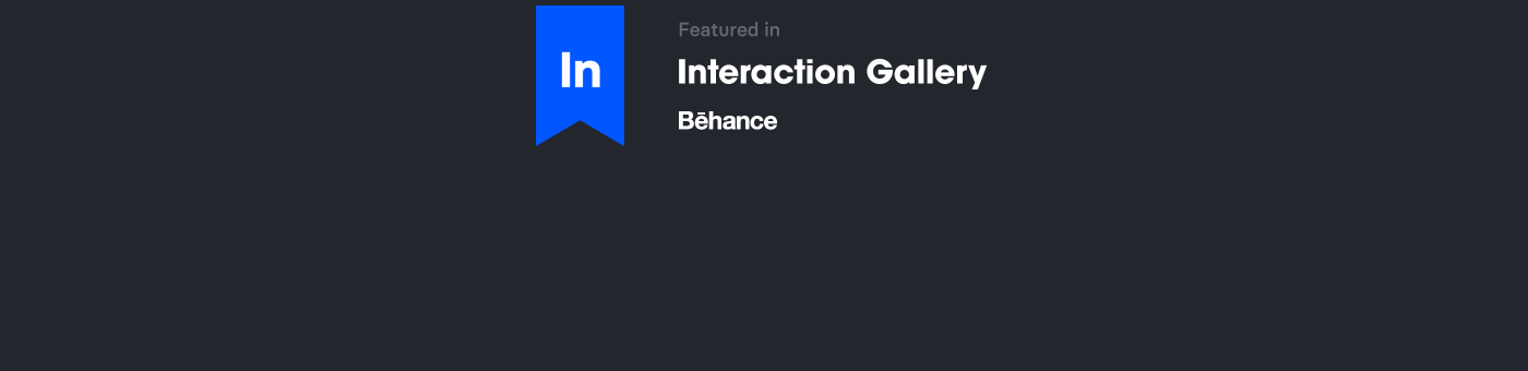 Featured in In Gallery on Behance